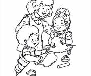 Coloring pages Cooking Mum