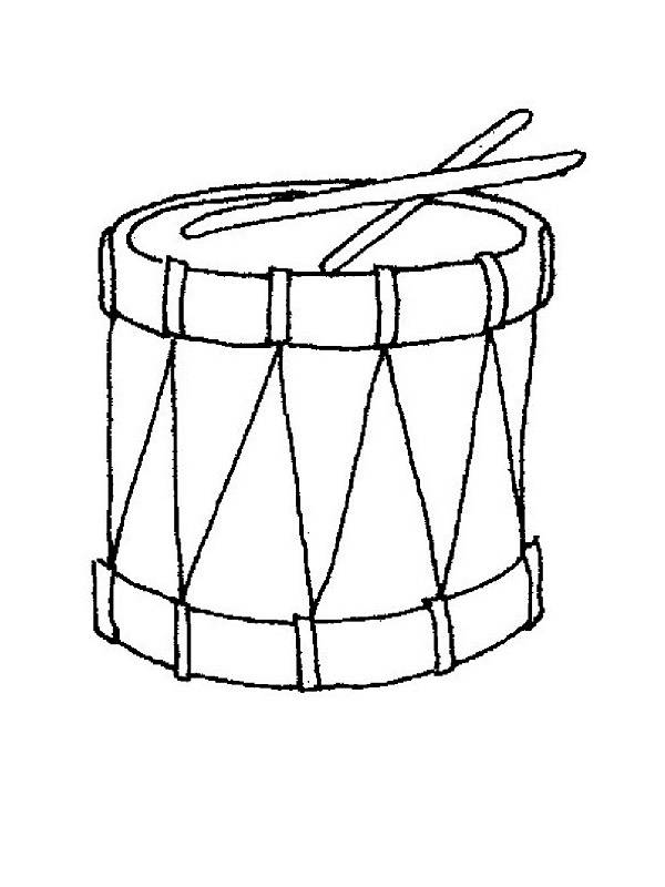 Free coloring and drawings A drum Coloring page