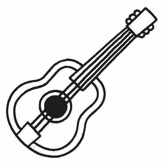 Free coloring and drawings A guitar Coloring page