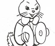 Free coloring and drawings A rabbit and free instrument Coloring page