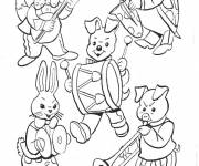 Free coloring and drawings Animals play music Coloring page