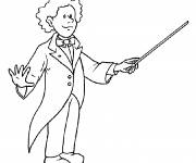 Free coloring and drawings Conductor Coloring page