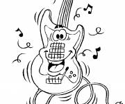 Free coloring and drawings Electric guitar Coloring page