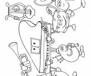 Free coloring and drawings Musical instruments Coloring page