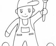 Coloring pages Child Painter