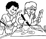 Coloring pages Children draw