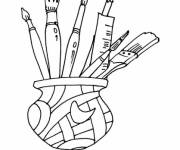 Coloring pages Painter Brushes