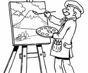 Coloring pages Painting Table