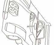 Free coloring and drawings A race car Coloring page