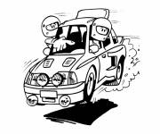 Coloring pages Funny rally car