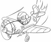 Coloring pages Pilot on computer