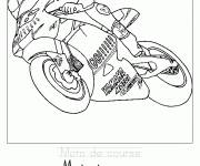 Coloring pages Racing motorcycle