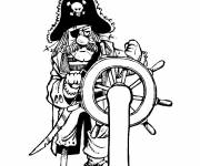 Coloring pages Color a drawing of pirate
