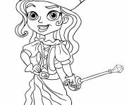 Coloring pages Girl pirate