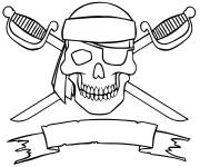 Coloring pages Pirate flag