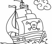 Coloring pages Pirate ship