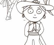 Coloring pages Pirate simple