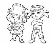 Coloring pages Pirates kids