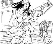 Coloring pages Pirates of the Caribbean