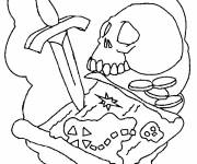 Coloring pages The treasure map