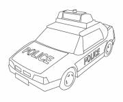 Coloring pages A police car