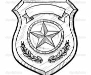 Coloring pages american police badge
