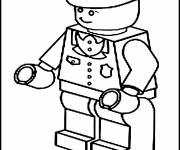 Coloring pages Color Lego Policeman