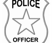 Coloring pages Police badge