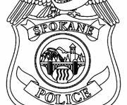 Coloring pages Police Badge to download