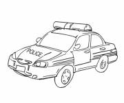 Coloring pages Police car drawing