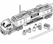 Coloring pages The Lego City police truck