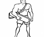 Coloring pages A lifeguard