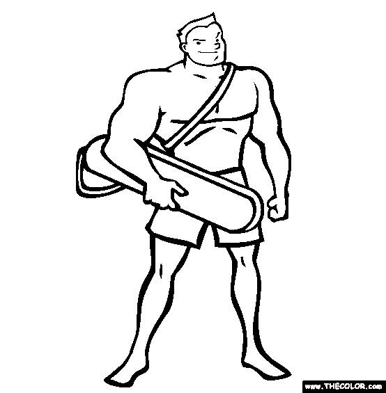 Free coloring and drawings A lifeguard Coloring page