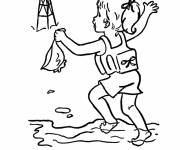 Free coloring and drawings Girl asks for help Coloring page