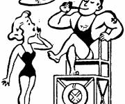 Free coloring and drawings Humorous lifeguard Coloring page