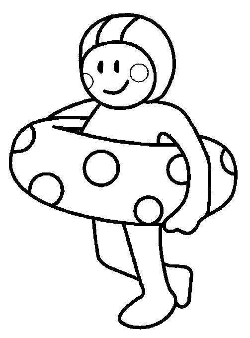 Free coloring and drawings Little swimmer Coloring page