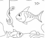 Coloring pages Fish fishery