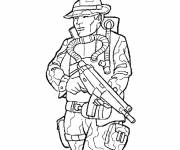 Coloring pages Drawing of french soldier