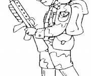 Free coloring and drawings Easy Soldier Coloring page
