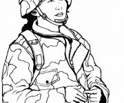 Free coloring and drawings Female Military Coloring page