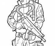 Free coloring and drawings Military soldier Coloring page