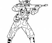 Coloring pages Soldier show