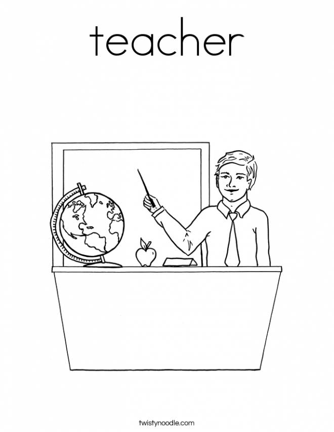 Free coloring and drawings A geography teacher Coloring page