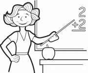 Coloring pages A mistress on the board