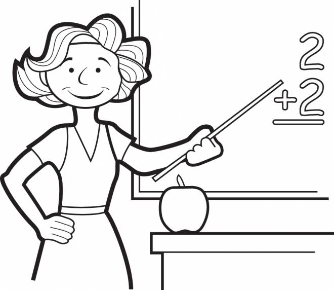 Free coloring and drawings A mistress on the board Coloring page