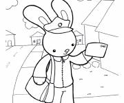Free coloring and drawings The factor rabbit Coloring page
