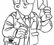 Free coloring and drawings The postman has a letter Coloring page