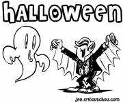 Coloring pages A halloween vampire