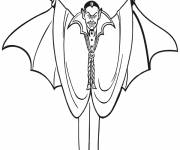 Free coloring and drawings Color Vampire Drawing Coloring page