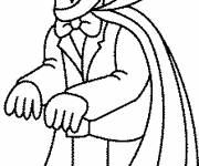 Coloring pages Easy drawing vampire